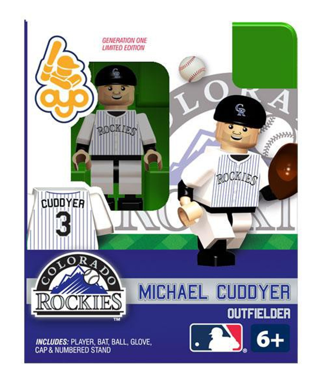 Colorado Rockies MLB Generation One Michael Cuddyer Minifigure