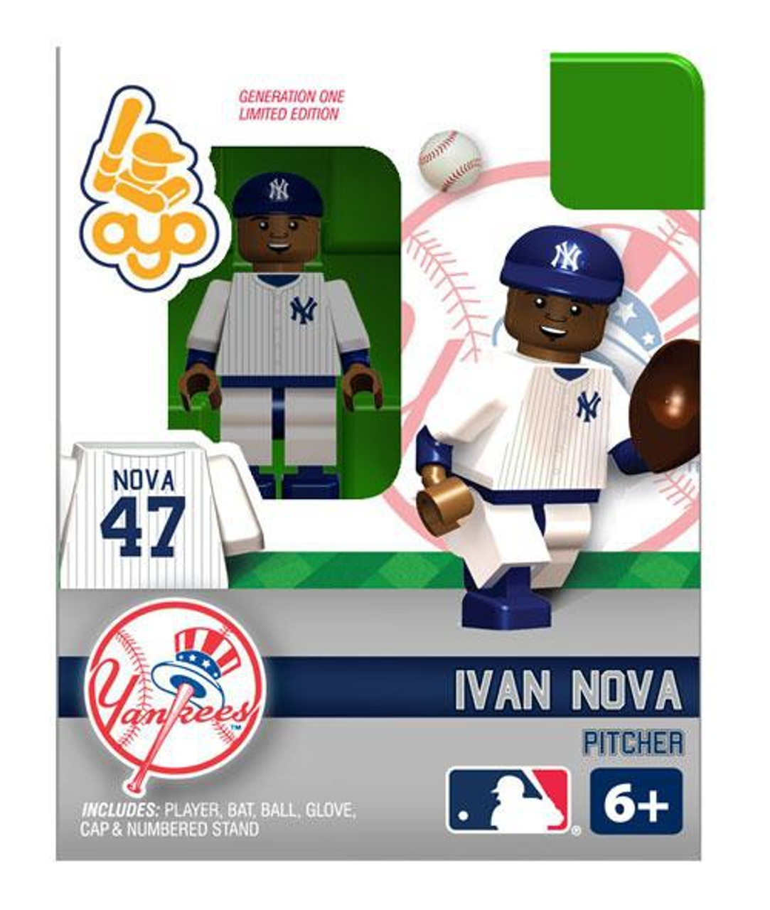 New York Yankees MLB Generation One Ivan Nova Minifigure
