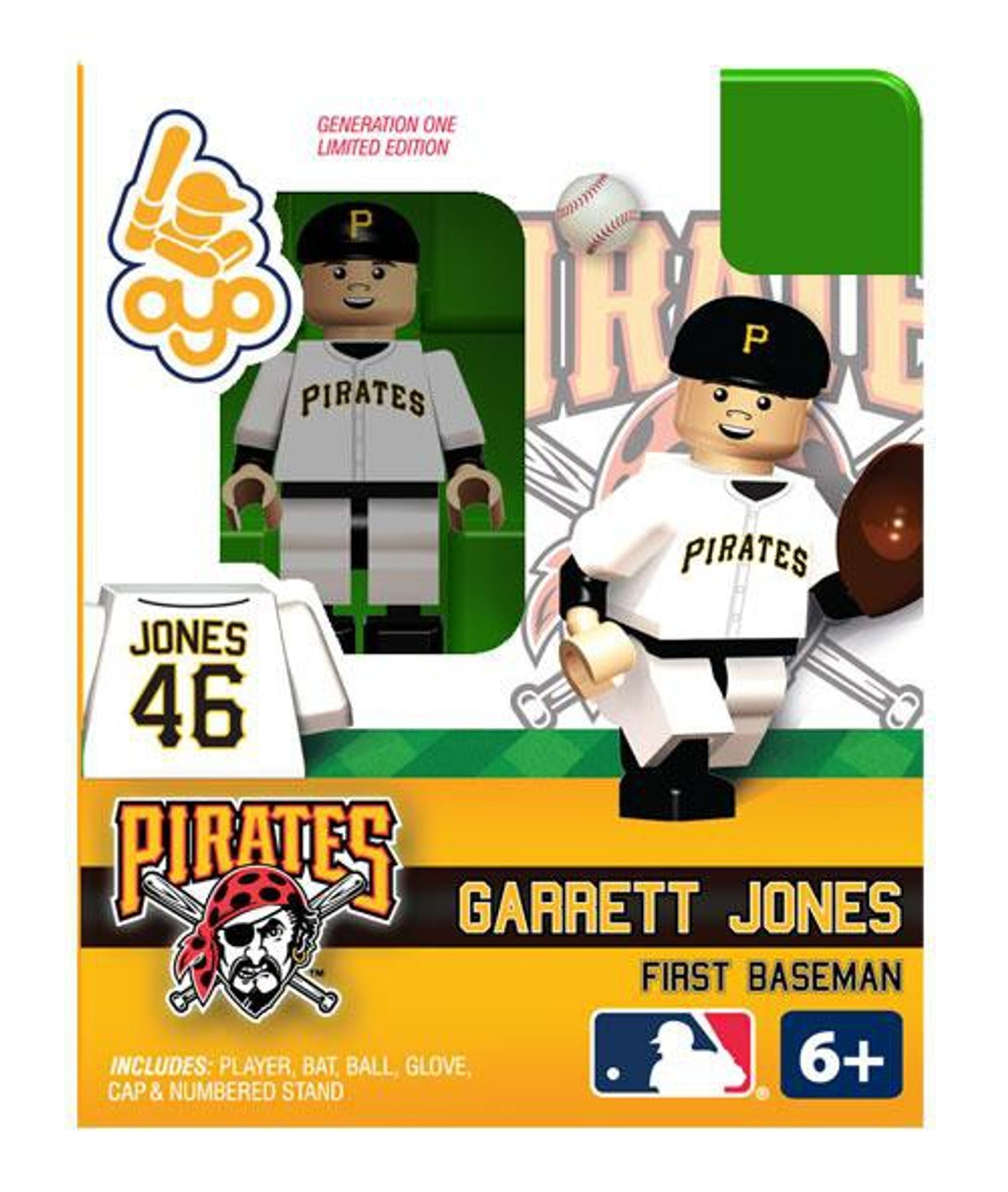 Pittsburgh Pirates MLB Generation One Garrett Jones Minifigure