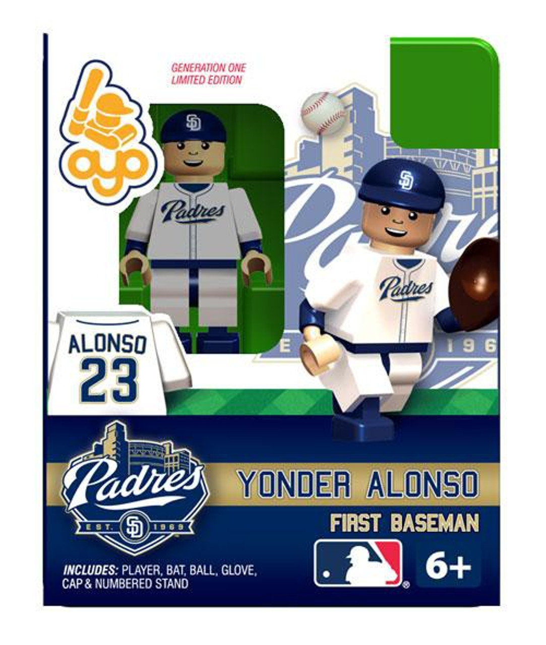 Saint Diego Padres MLB Generation One Yonder Alonso Minifigure