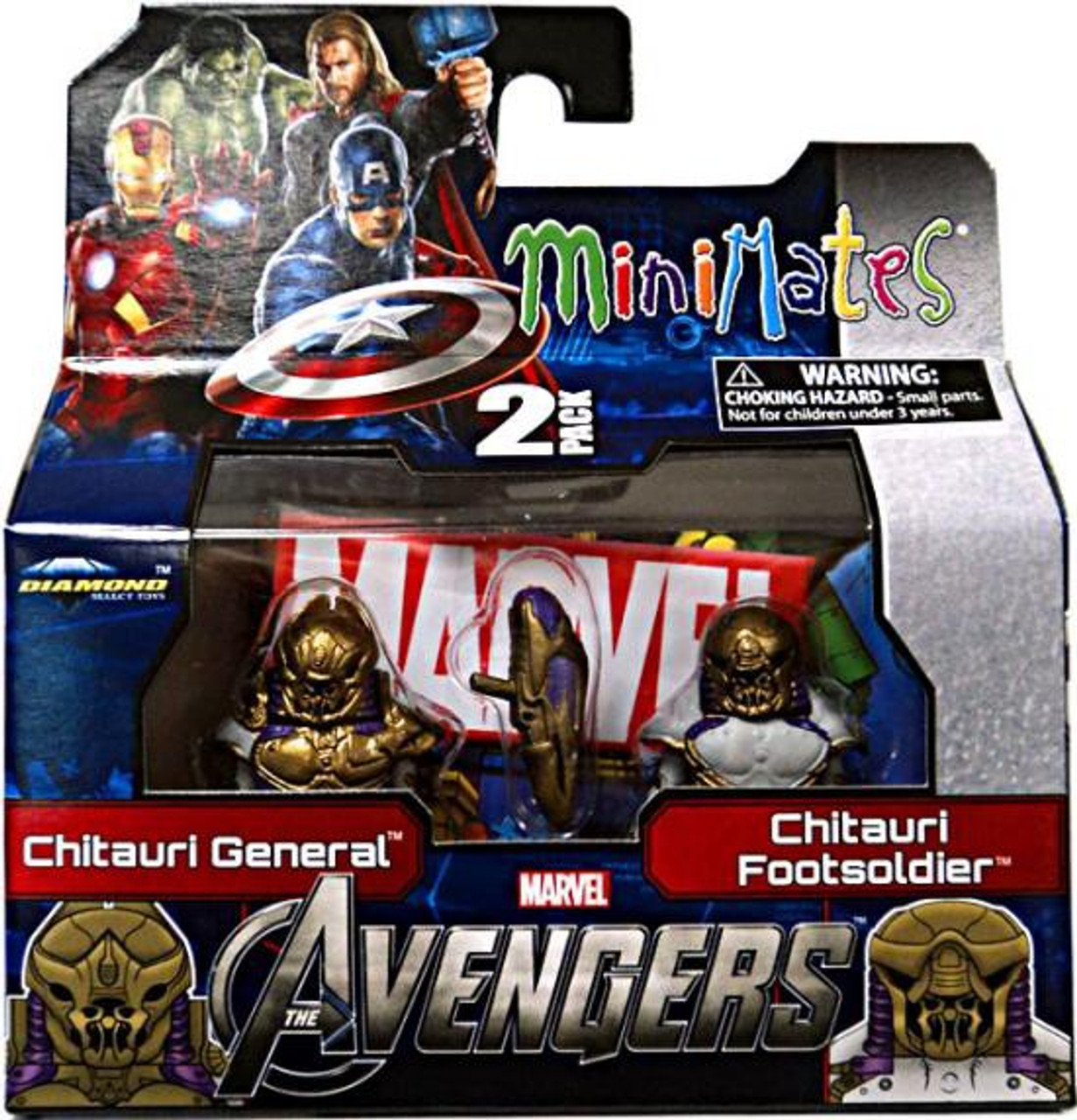 Marvel Minimates Series 45 Avengers Movie Chitauri General & Footsoldier Minifigure 2-Pack
