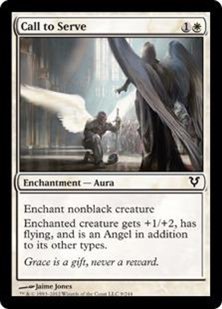 MtG Avacyn Restored Common Call to Serve #9