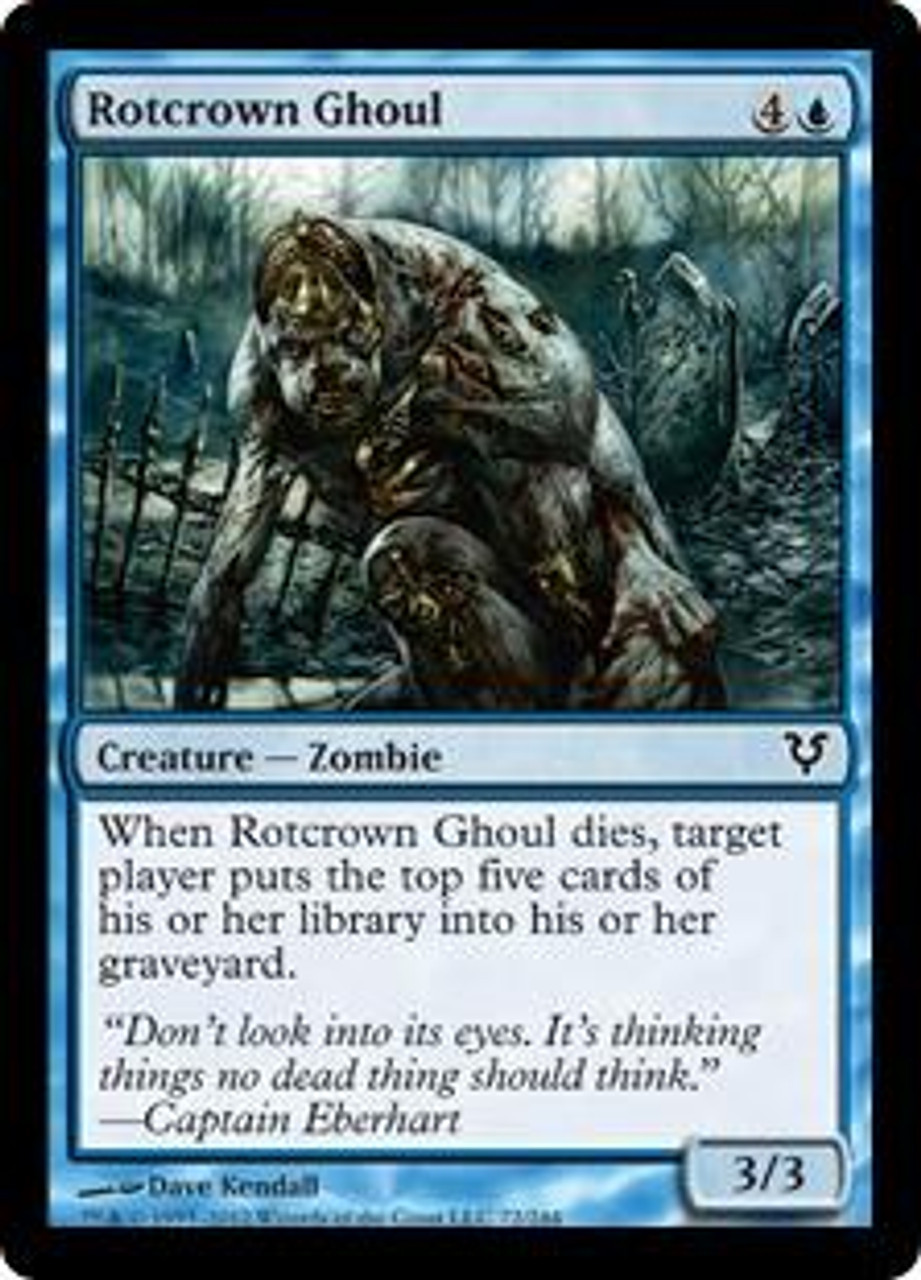 MtG Avacyn Restored Common Rotcrown Ghoul #72