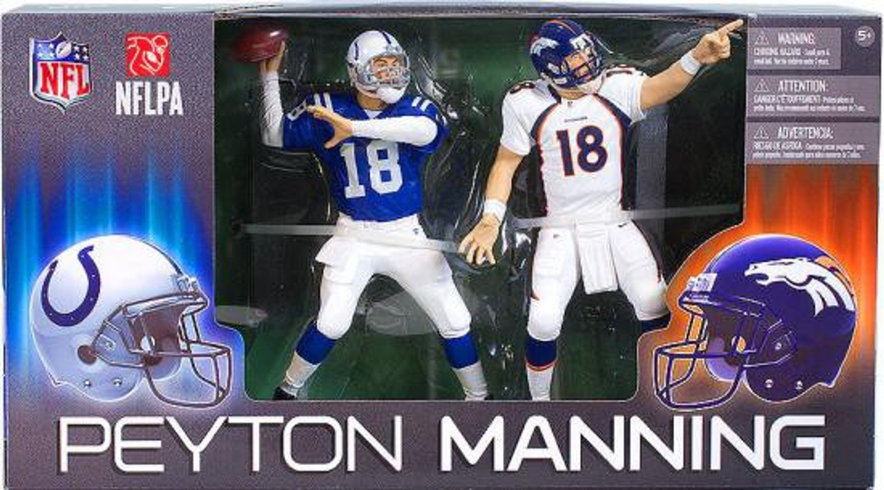 McFarlane Toys NFL Indianapolis Colts / Denver Broncos Sports Picks Peyton Manning Action Figure 2-Pack