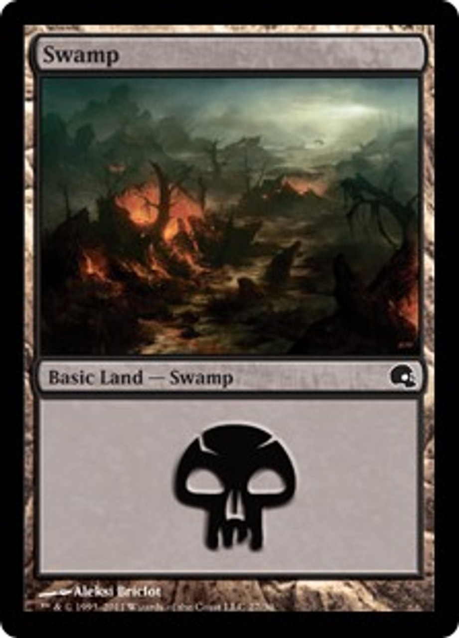 MtG Premium Deck Series: Graveborn Land Foil Swamp #27