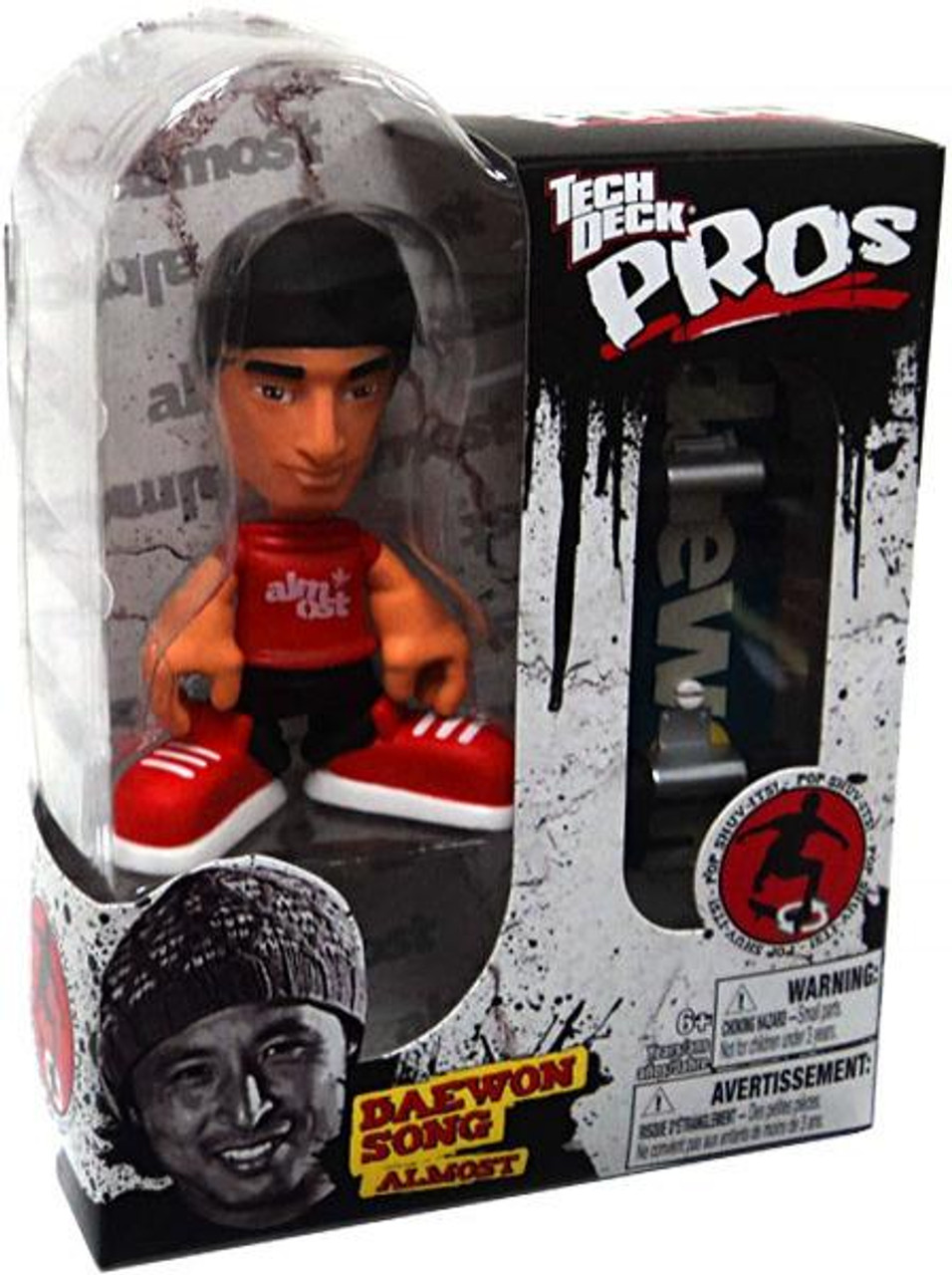 Tech Deck Pros Daewon Song Action Figure [Almost, Red Shirt]