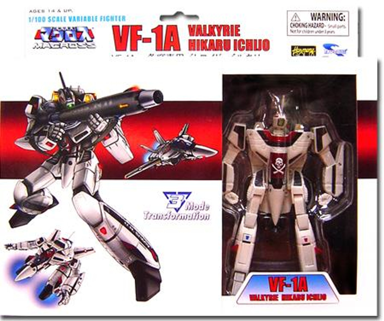 Robotech Macross Transformable Series 1 Veritech Fighter Hikaru Ichijo's VF-1A Action Figure