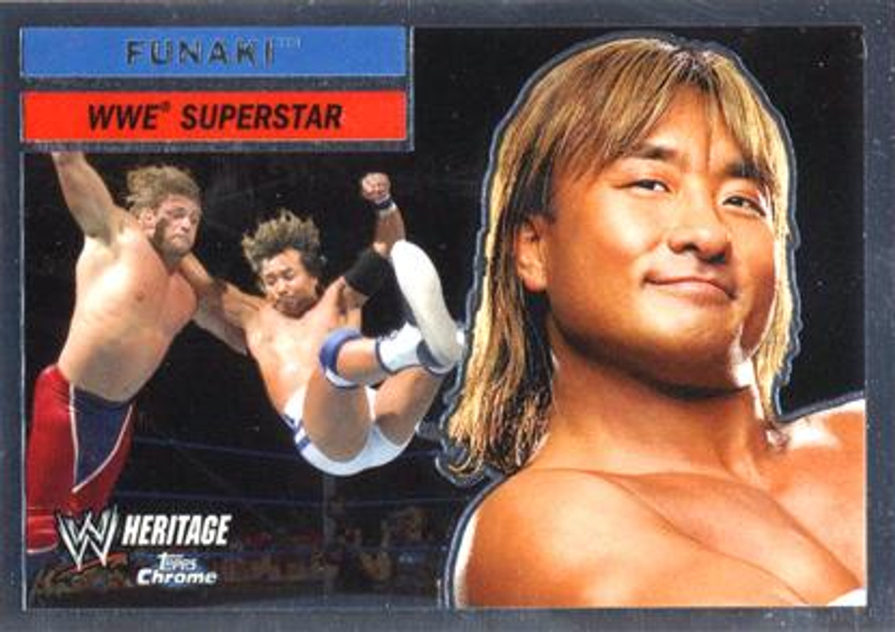 WWE Wrestling Topps Chrome 2006 WWE Heritage Superstar Funaki #38
