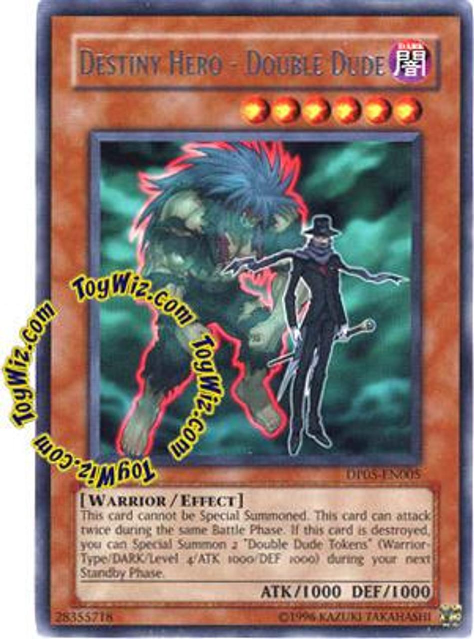 YuGiOh GX Duelist Series Aster Phoenix Rare Destiny Hero - Double Dude DP05-EN005