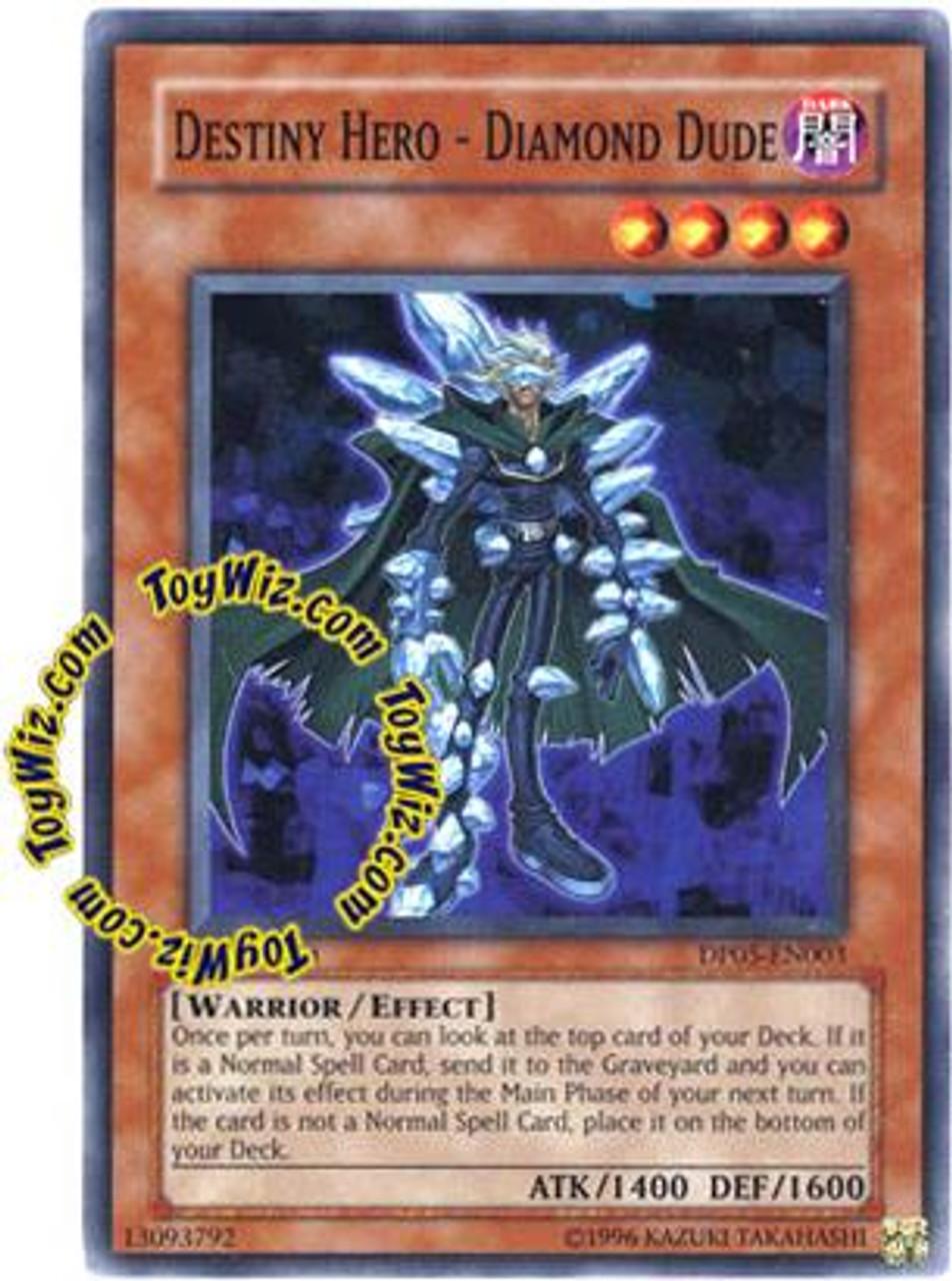 YuGiOh GX Duelist Series Aster Phoenix Common Destiny Hero - Diamond Dude DP05-EN003