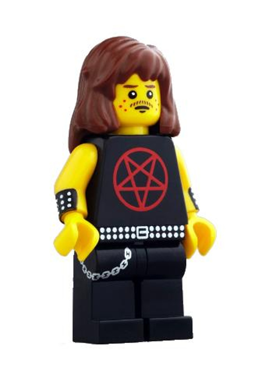Citizen Brick Custom Painted Heavy Metal Enthusiast Minifigure