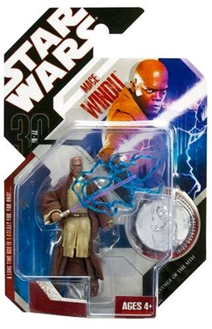Star Wars Revenge of the Sith 30th Anniversary 2007 Wave 1 Mace Windu Action Figure #6