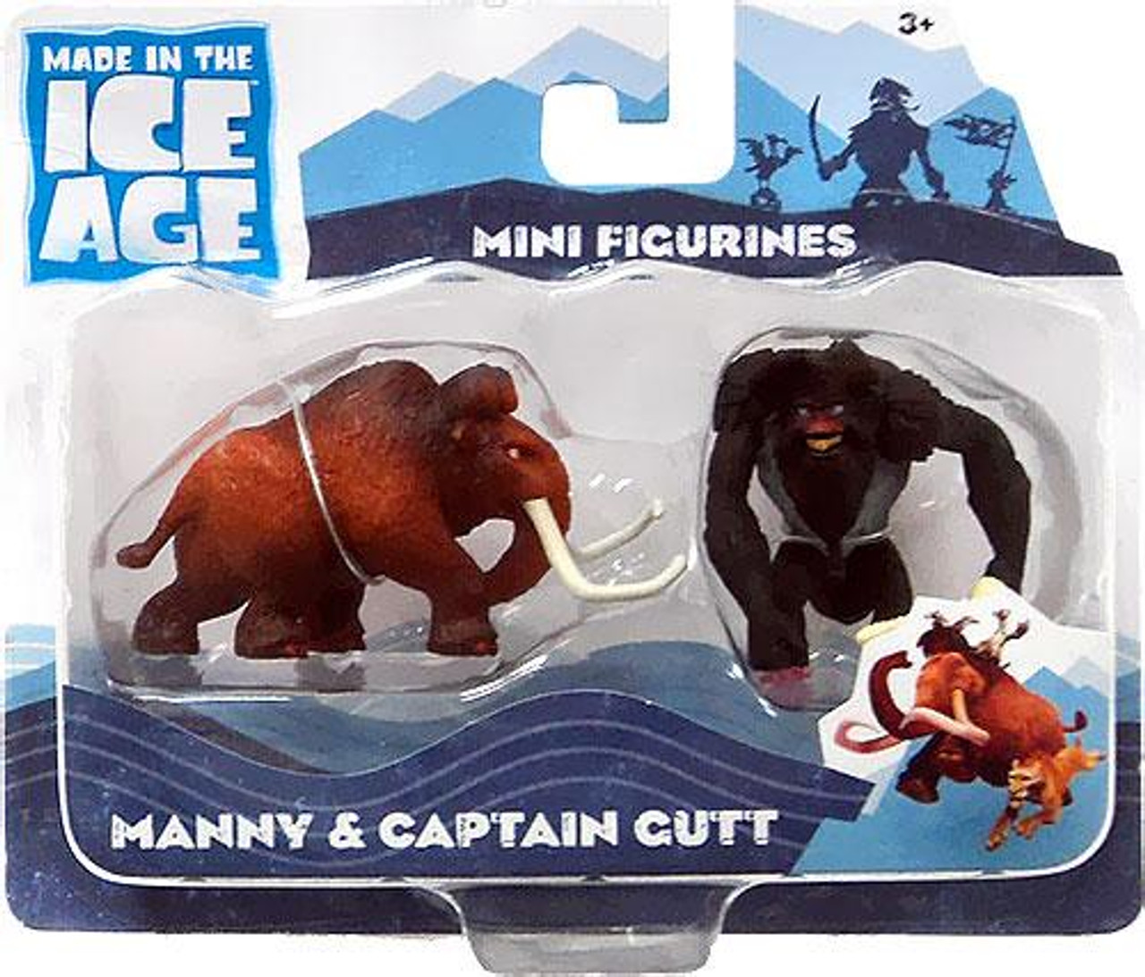 Ice Age Continental Drift Manny & Captain Gutt Mini Figure 2-Pack