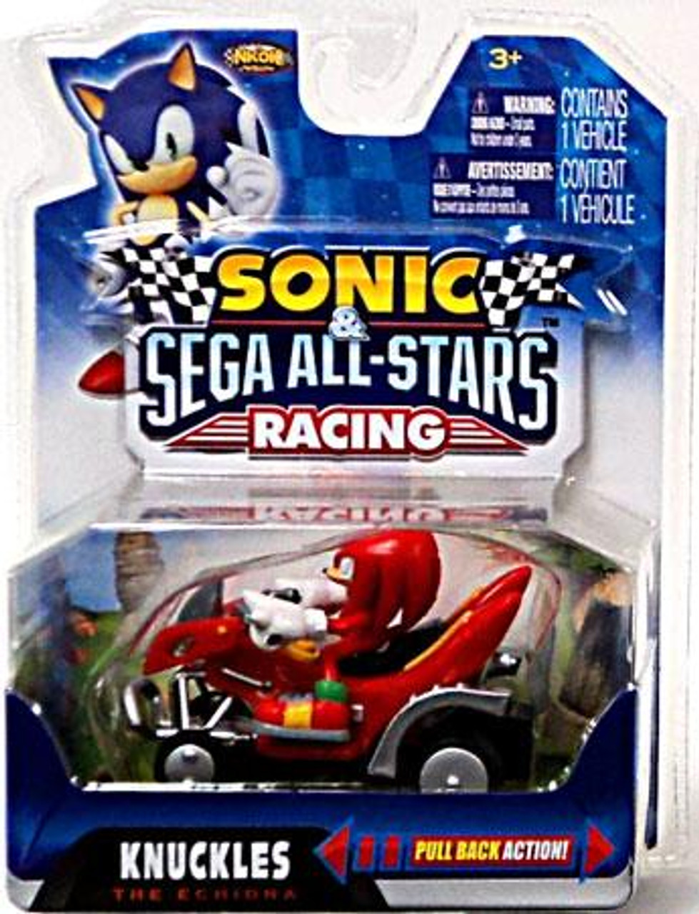 Sonic The Hedgehog Sega All-Stars Racing Knuckles the Echidna Pull Back Vehicle