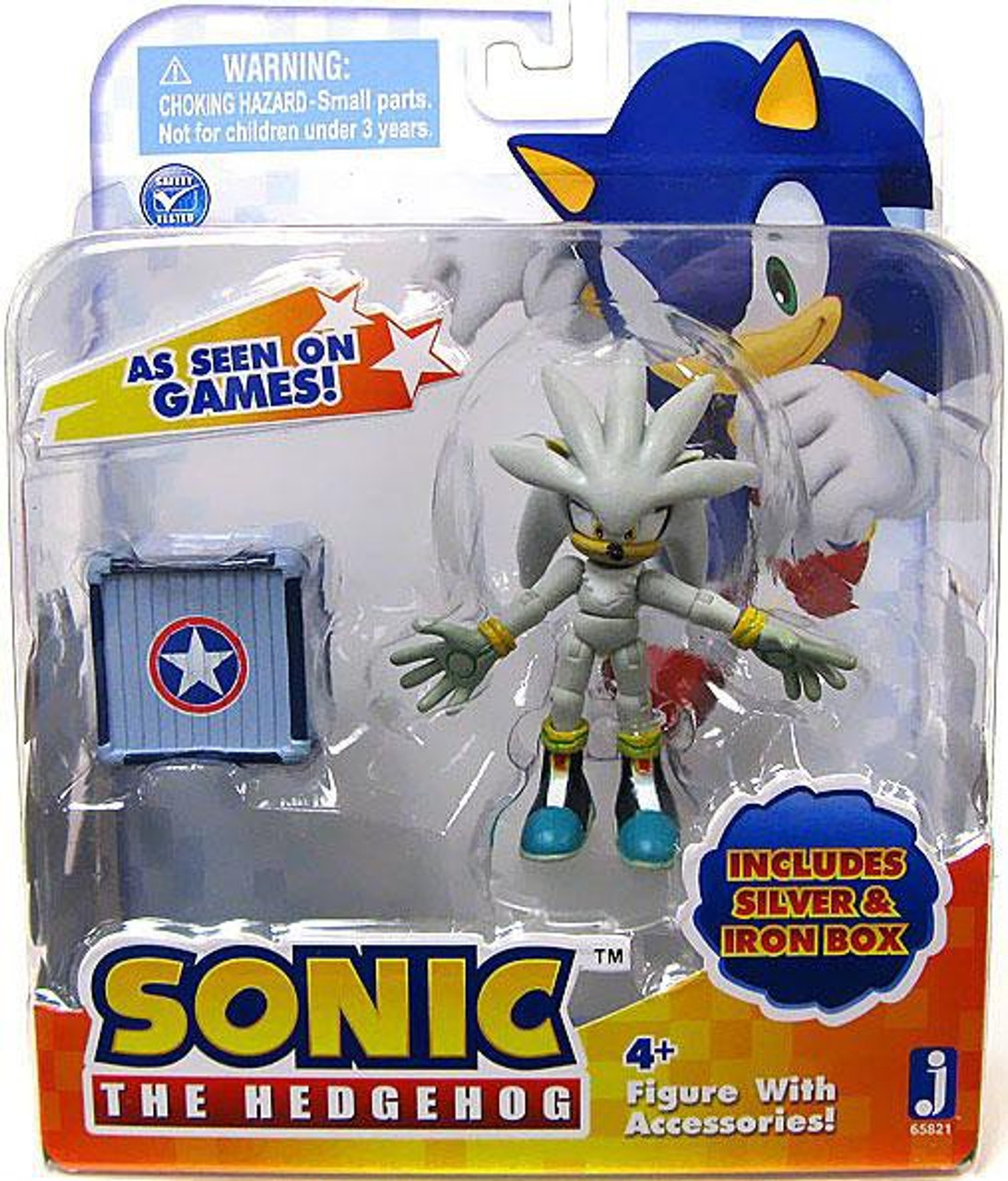 Sonic The Hedgehog Silver Action Figure [With Iron Box]