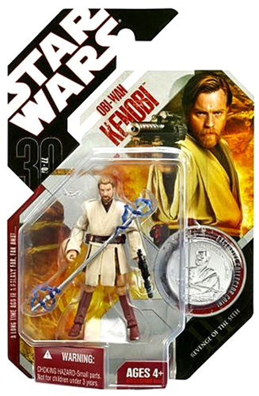 Star Wars Revenge of the Sith 30th Anniversary 2007 Wave 1 Obi-Wan Kenobi Action Figure #5