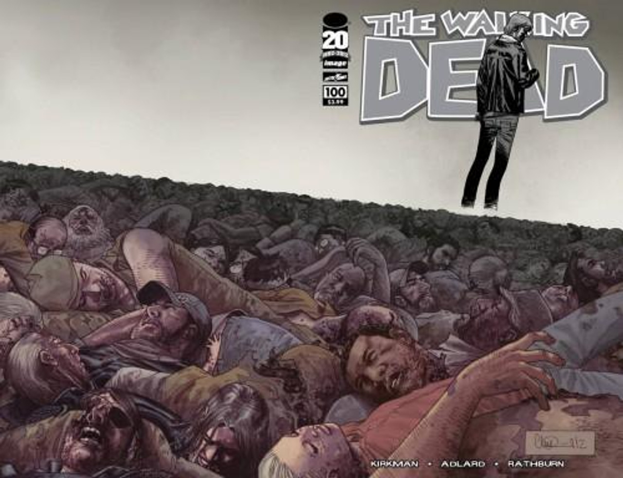 Image Comics The Walking Dead Comic Book #100 [Charlie Adlard Wraparound Cover]