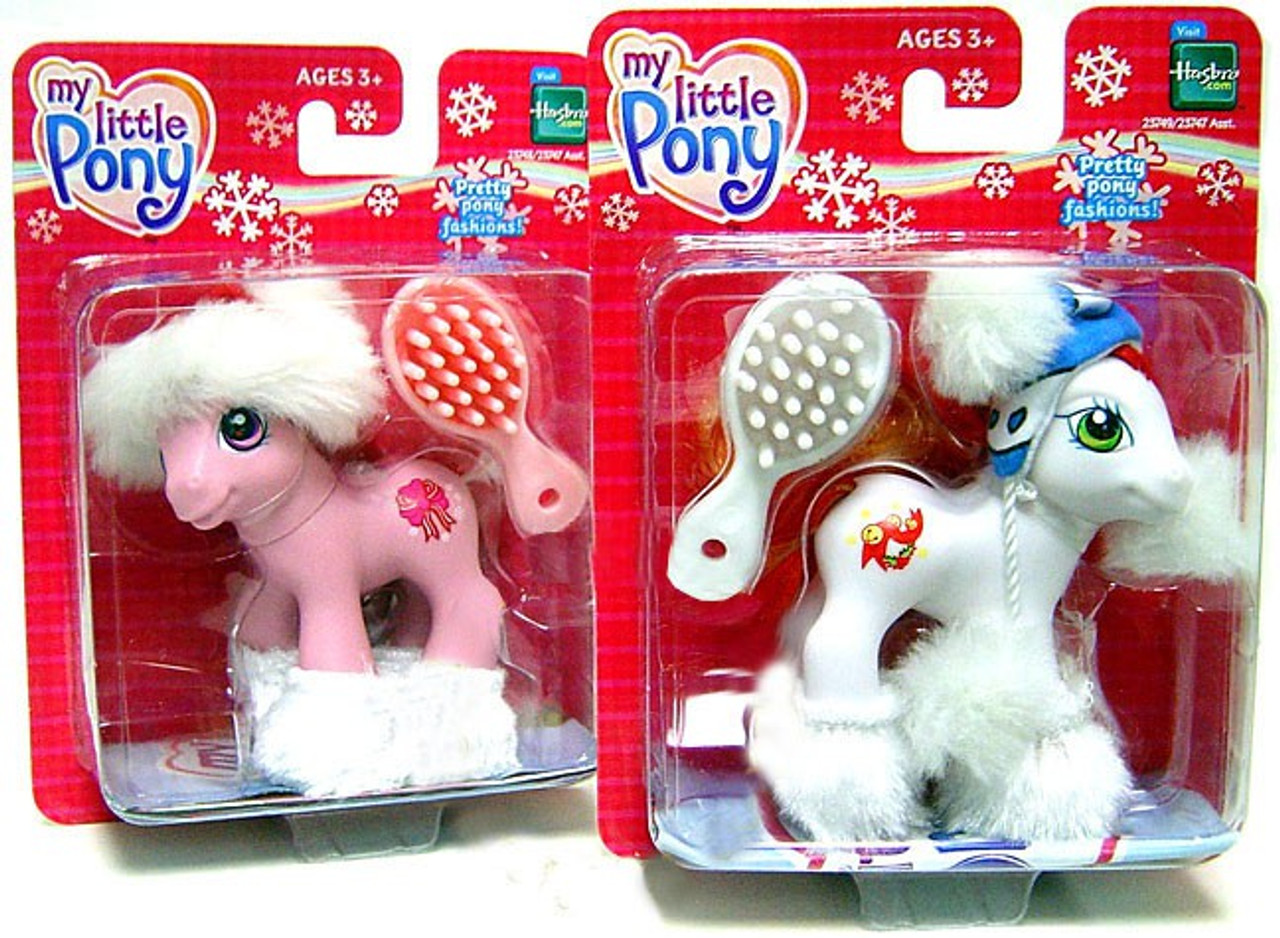 My Little Pony Classic Set of Both Holiday Christmas Mini Pony Figures