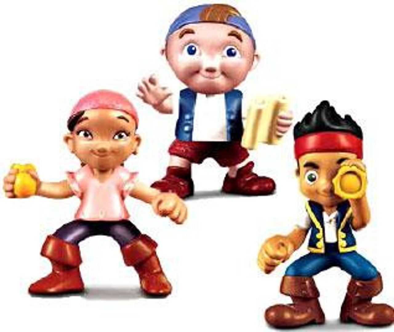 Fisher Price Disney Jake and the Never Land Pirates Jake, Izzy & Cubby Figure 3-Pack