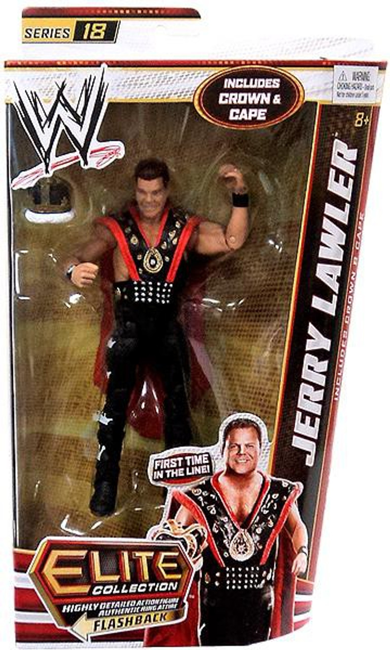 WWE Wrestling Elite Series 18 Jerry Lawler Action Figure [Crown & Cape]