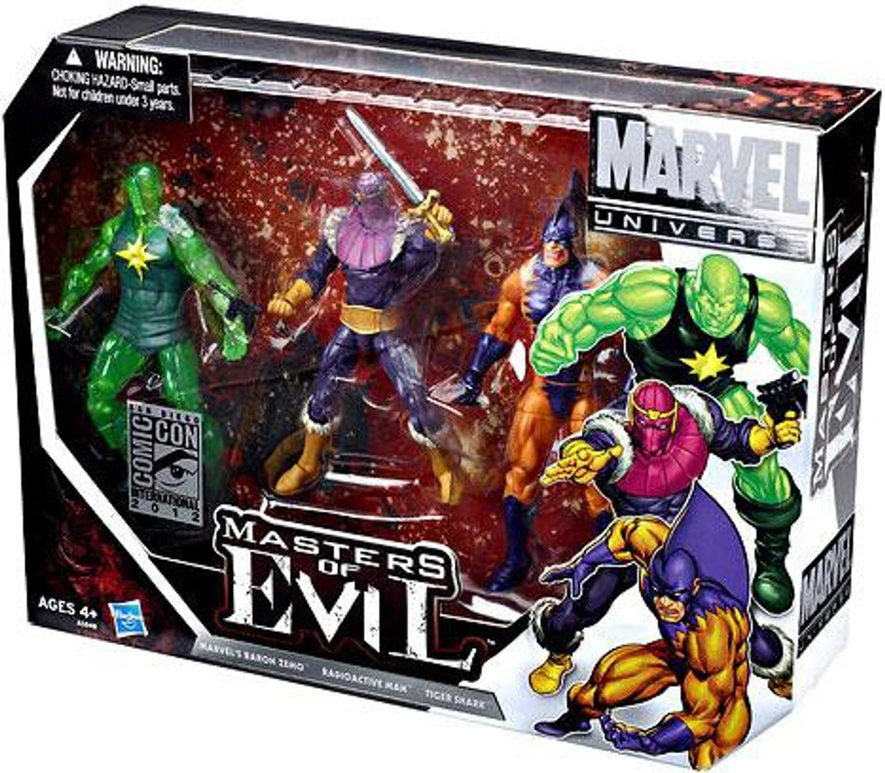 Marvel Universe Zemo, Tiger Shark & Radioactive Man Exclusive Action Figure Set [Masters of Evil]