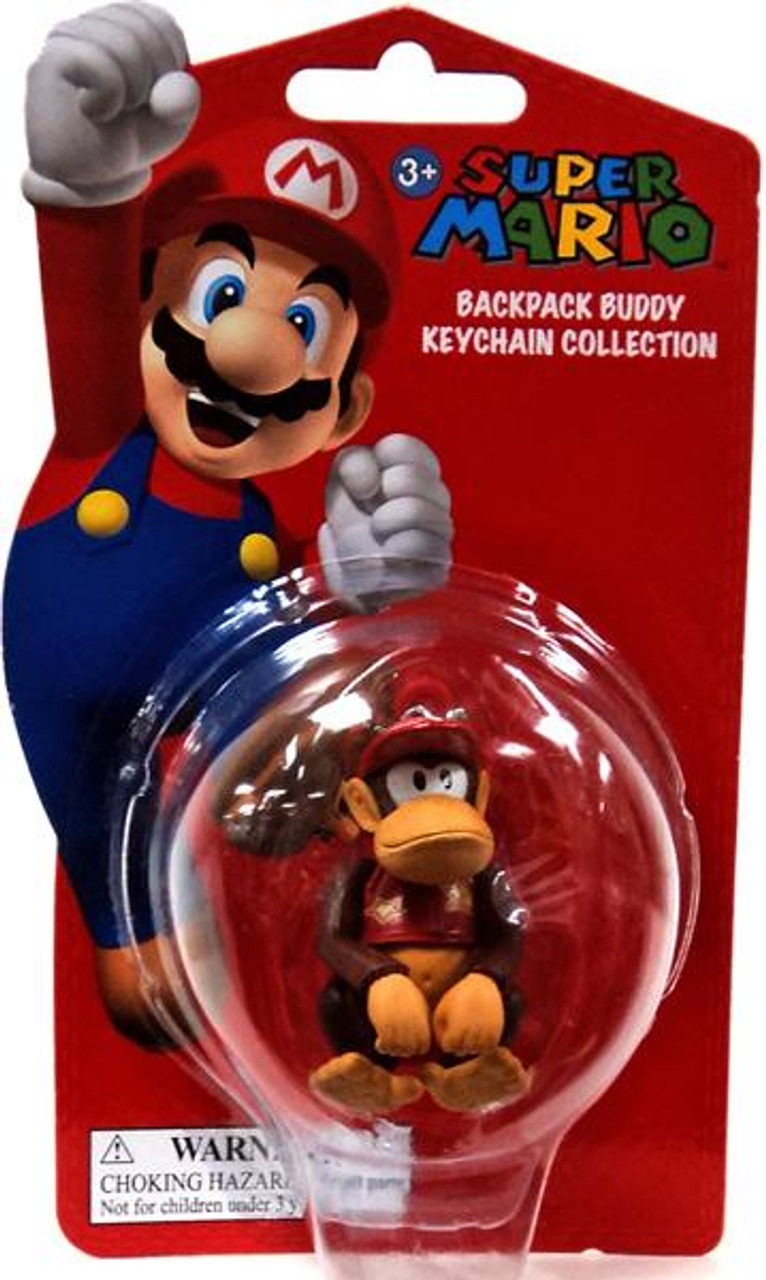 Super Mario Backpack Buddy Collection Diddy Kong 2-Inch Keychain