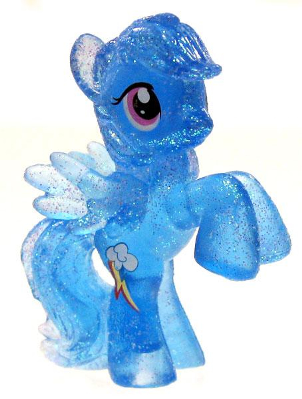 My Little Pony Friendship is Magic 2 Inch Rainbow Dash Exclusive PVC Figure [Crystal Glitter]