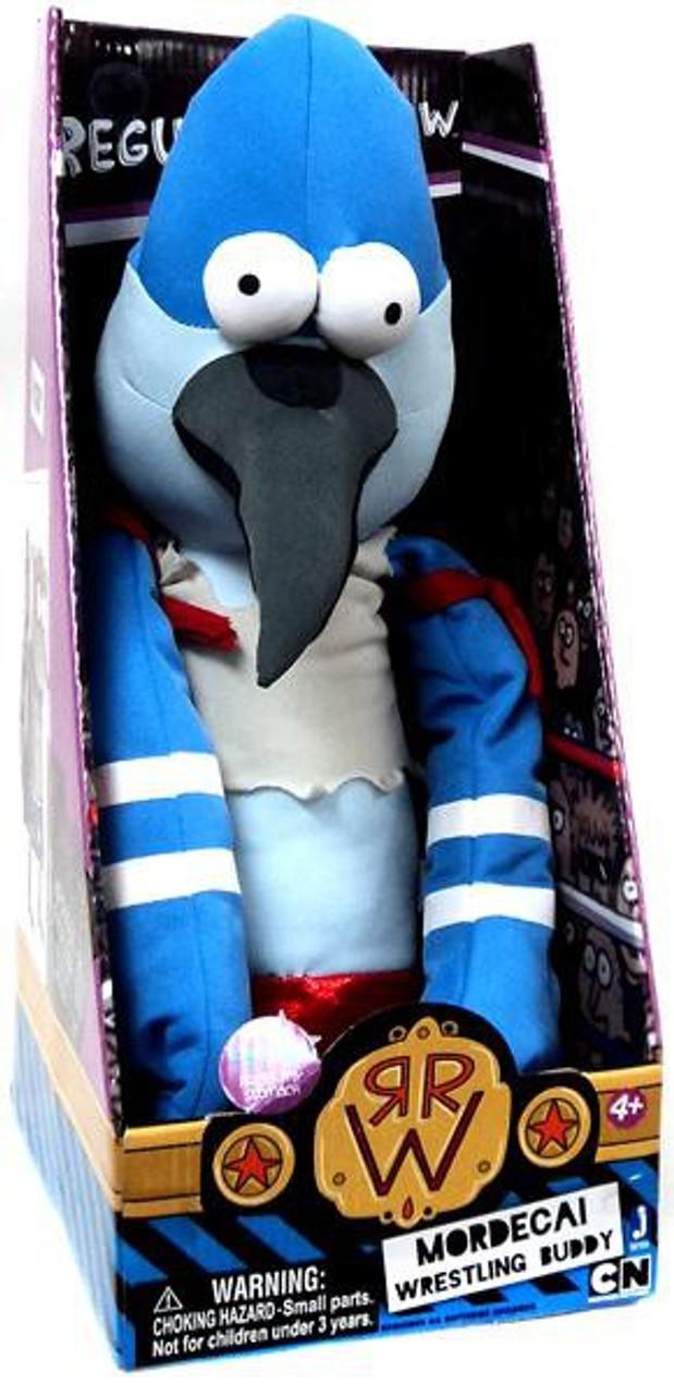 Cartoon Network Regular Show Wrestling Buddies Mordecai 20-Inch Plush