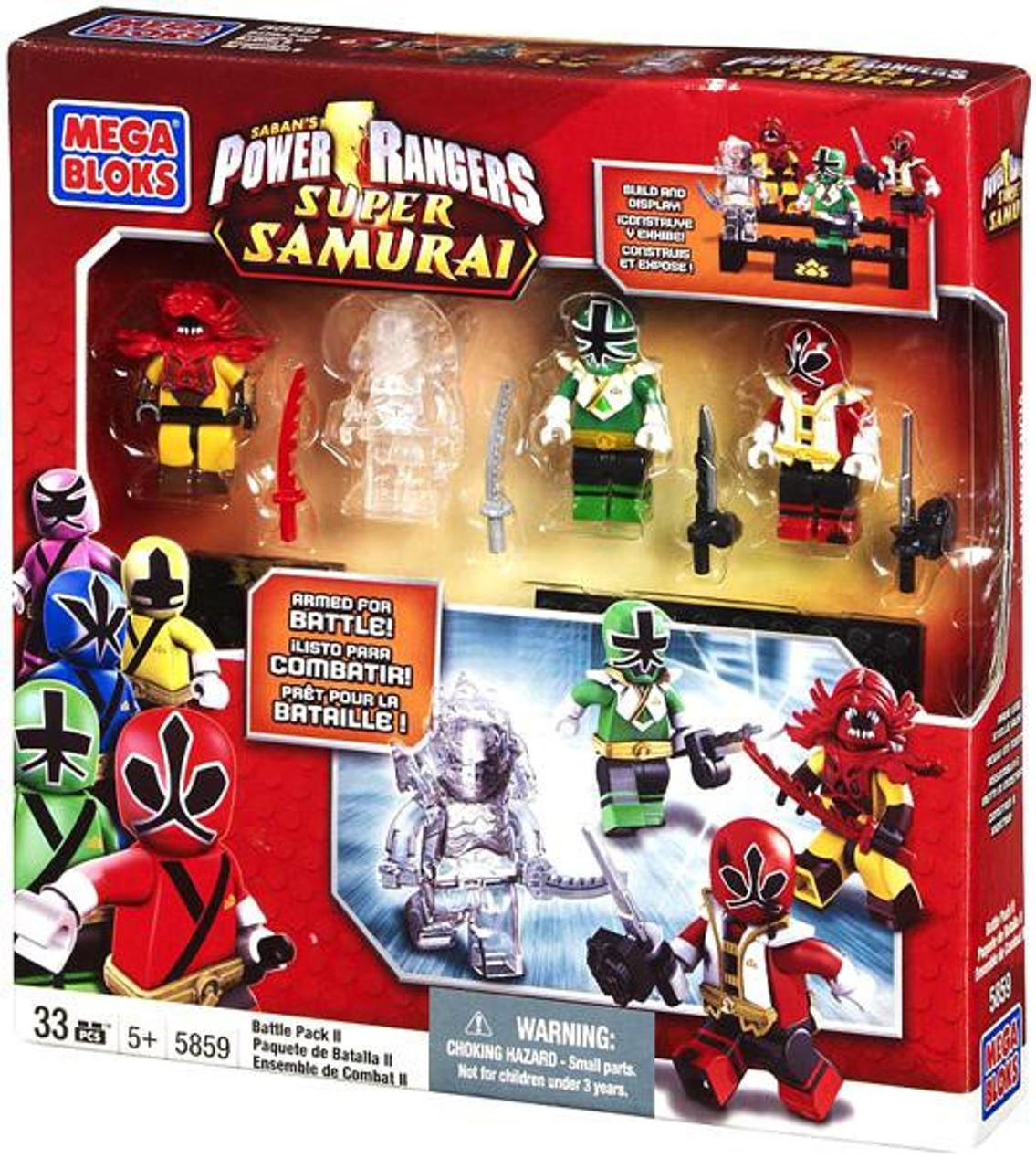 Mega Bloks Power Rangers Super Samurai Battle Pack II Exclusive Set #5859