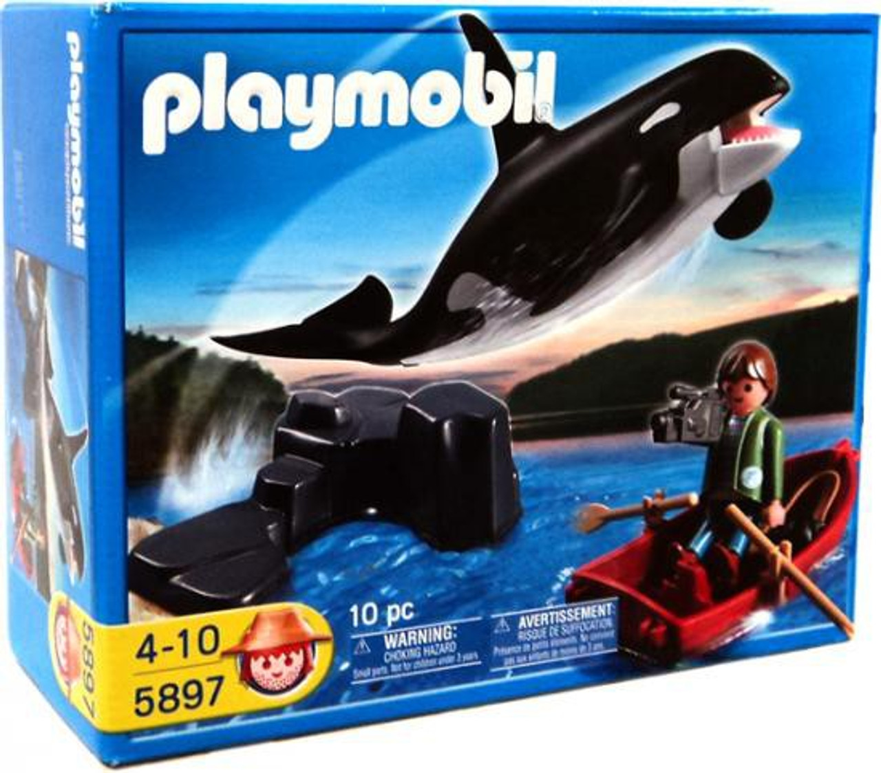Playmobil Harbor Whale and Fisherman Set #5897