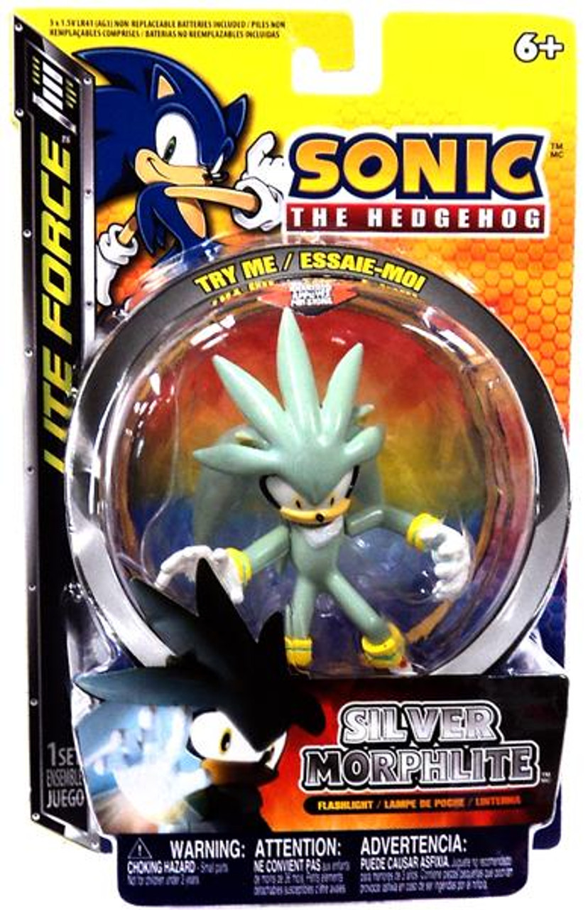Sonic The Hedgehog Lite Force Silver Morphlite Flashlight
