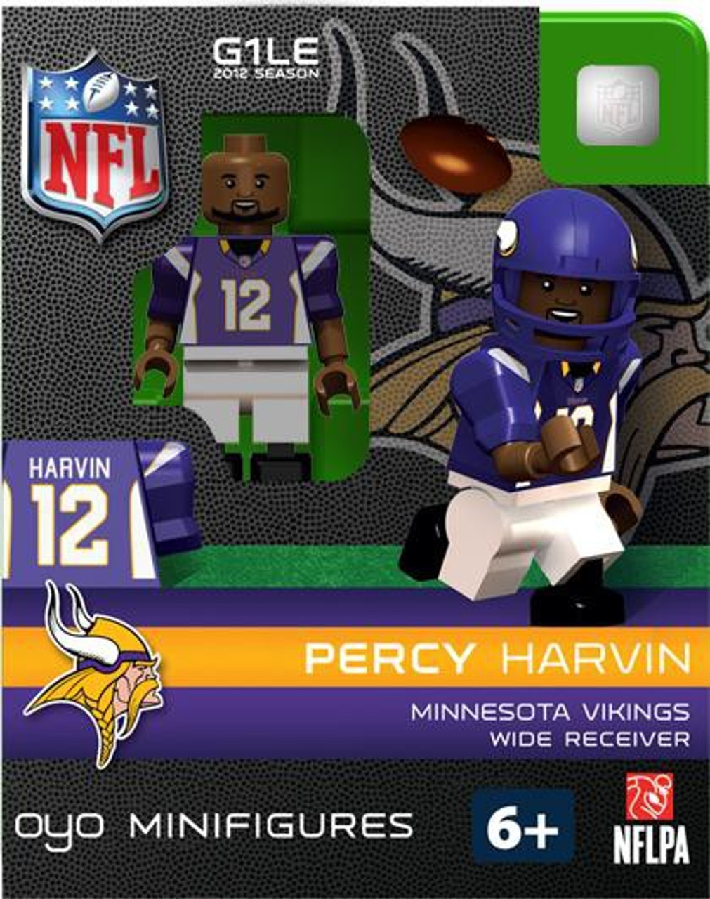 Minnesota Vikings NFL Generation 1 2012 Season Percy Harvin Minifigure