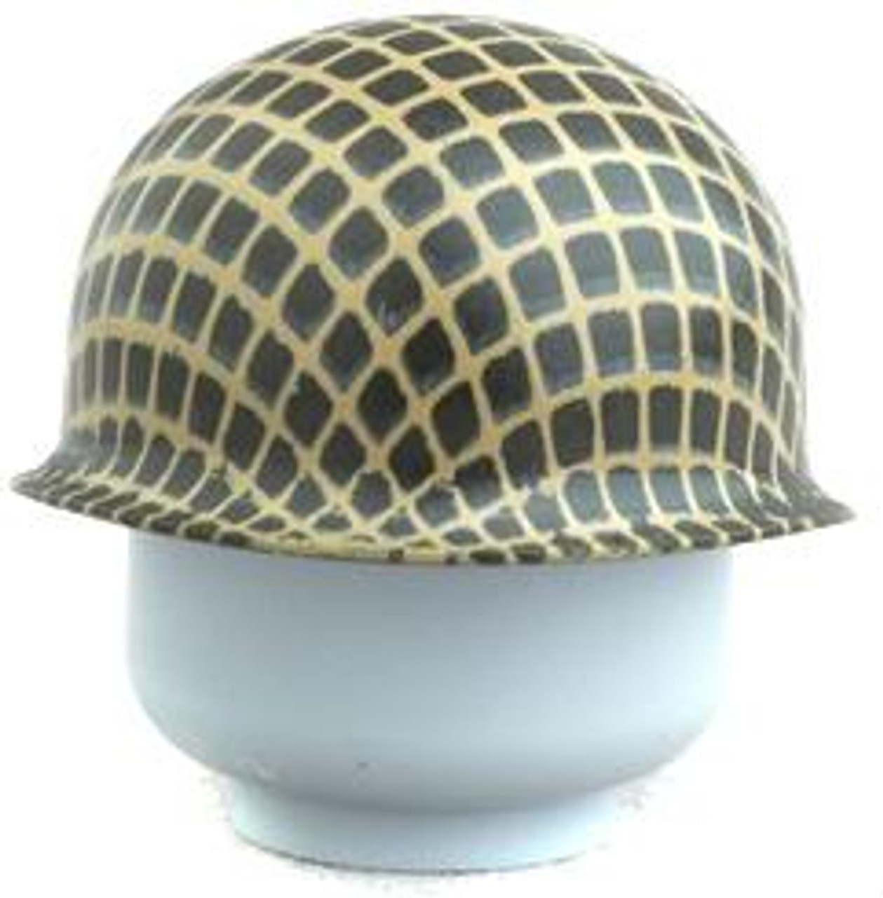 Citizen Brick Custom Painted M1 Steel Pot Helmet with Webbing Loose Accessory