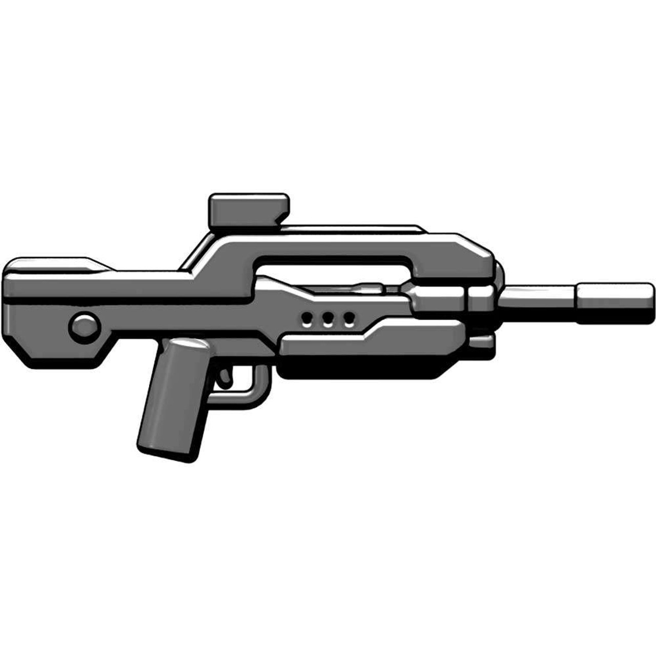 BrickArms Weapons XBR4 Experimental Battle Rifle #4 2.5-Inch #4 [Gunmetal]