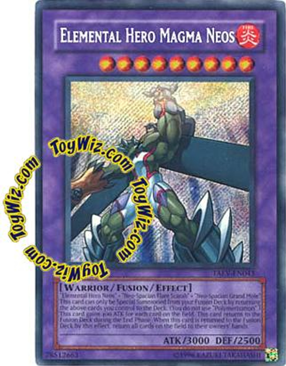 YuGiOh GX Tactical Evolution Secret Rare Elemental Hero Magma Neos TAEV-EN043