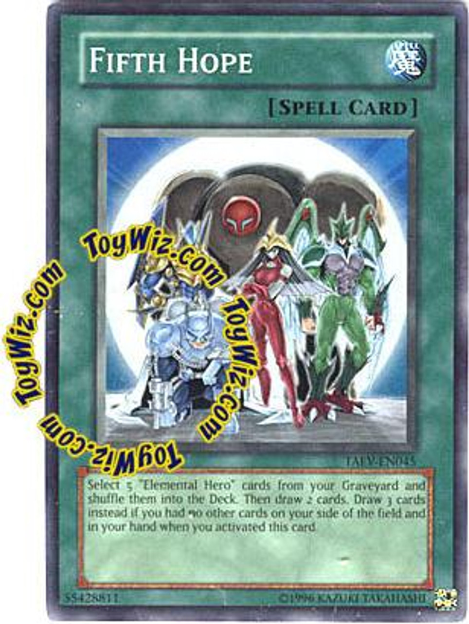 YuGiOh GX Tactical Evolution Super Rare Fifth Hope TAEV-EN045