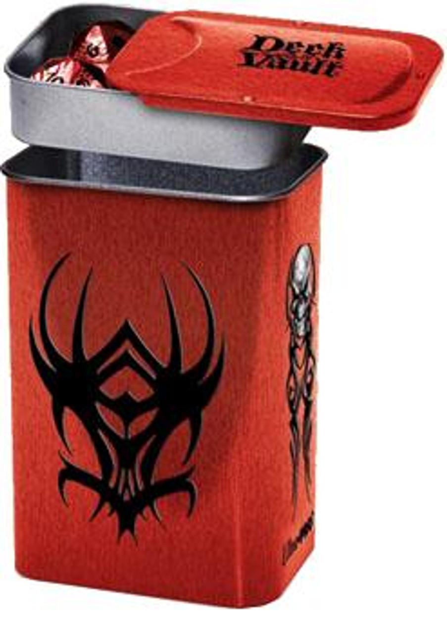 Ultra Pro Card Supplies Steel Deck Vault Tribal Red Standard Deck Box