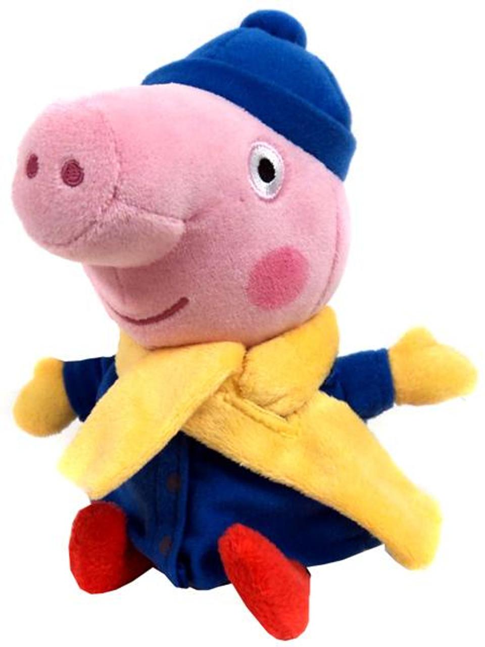 Beanie Babies Peppa Pig Baby George in Winter Coat Exclusive Beanie Baby Plush