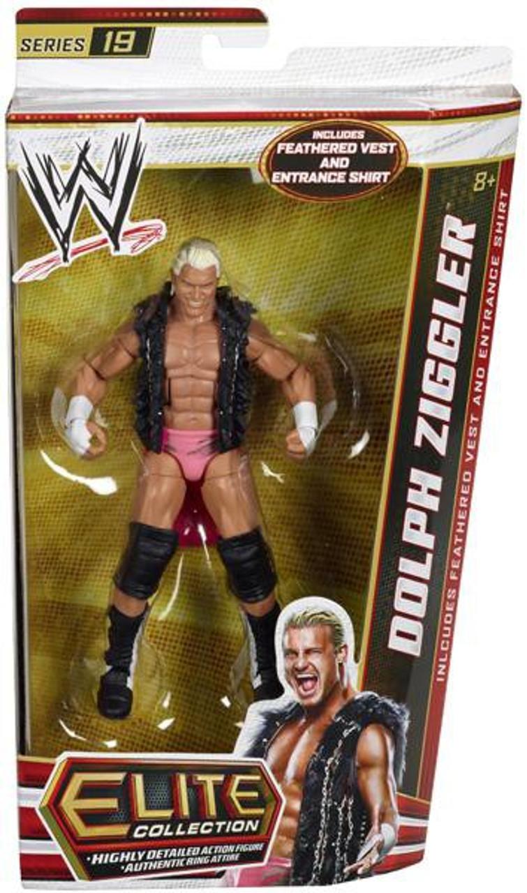 WWE Wrestling Elite Series 19 Dolph Ziggler Action Figure [Feathered Vest & Entrance Shirt]