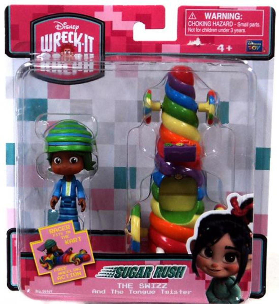Disney Wreck-It Ralph Sugar Rush Racer The Swizz & Tongue Twister Figure Set