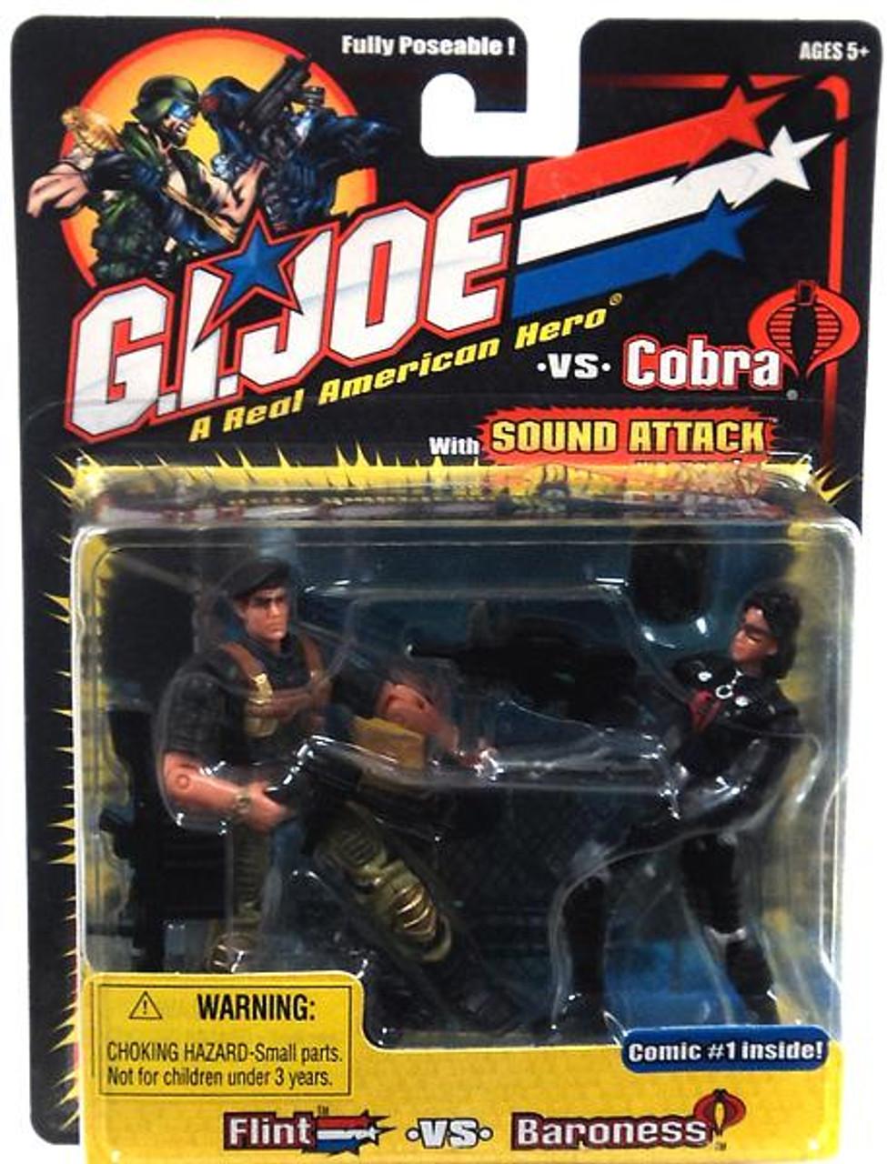 GI Joe A Realm American Hero vs Cobra Flint vs Baroness Action Figure 2-Pack