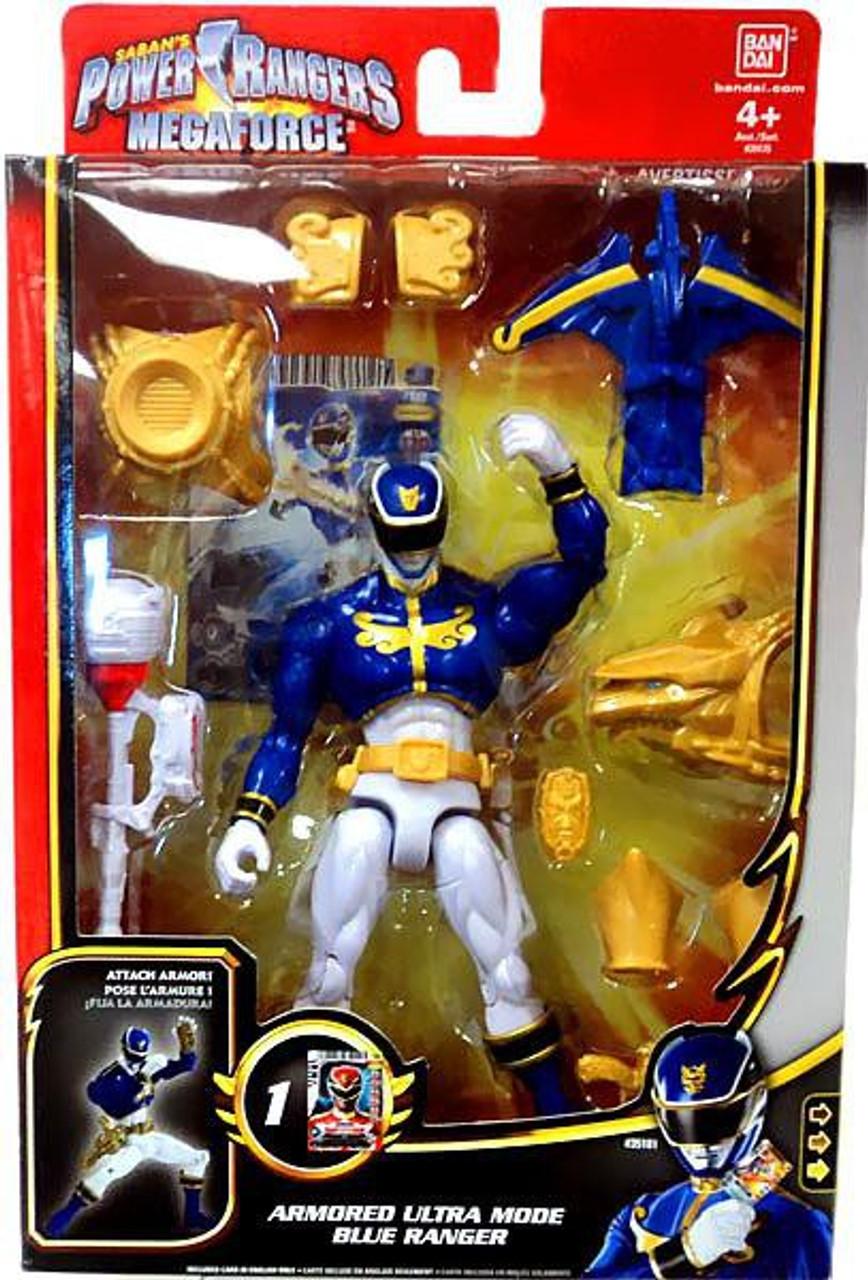 Power Rangers Megaforce Deluxe Armored Ultra Mode Blue Ranger Action Figure