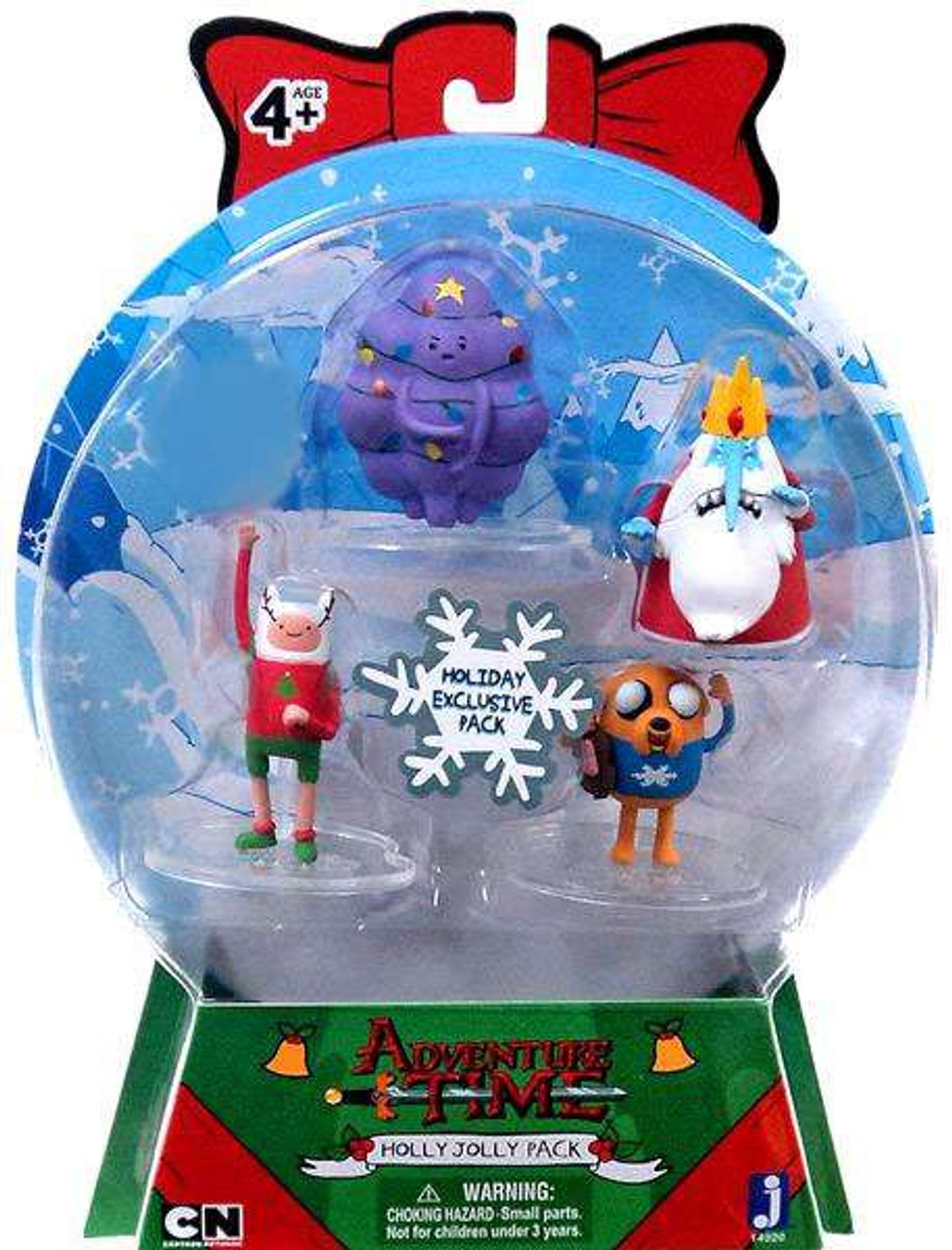 Adventure Time Collector's Pack Ugly Sweater Holly Jolly 2-Inch Mini Figure 4-Pack