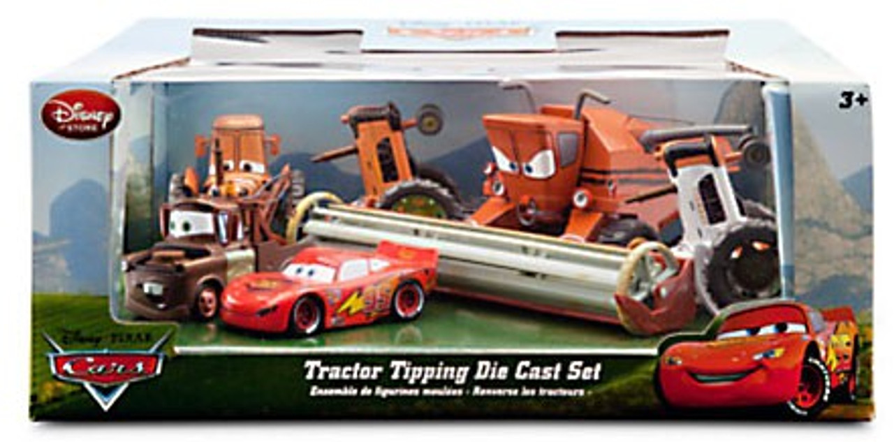 Disney Cars Tractor Tipping Exclusive Diecast Car Set