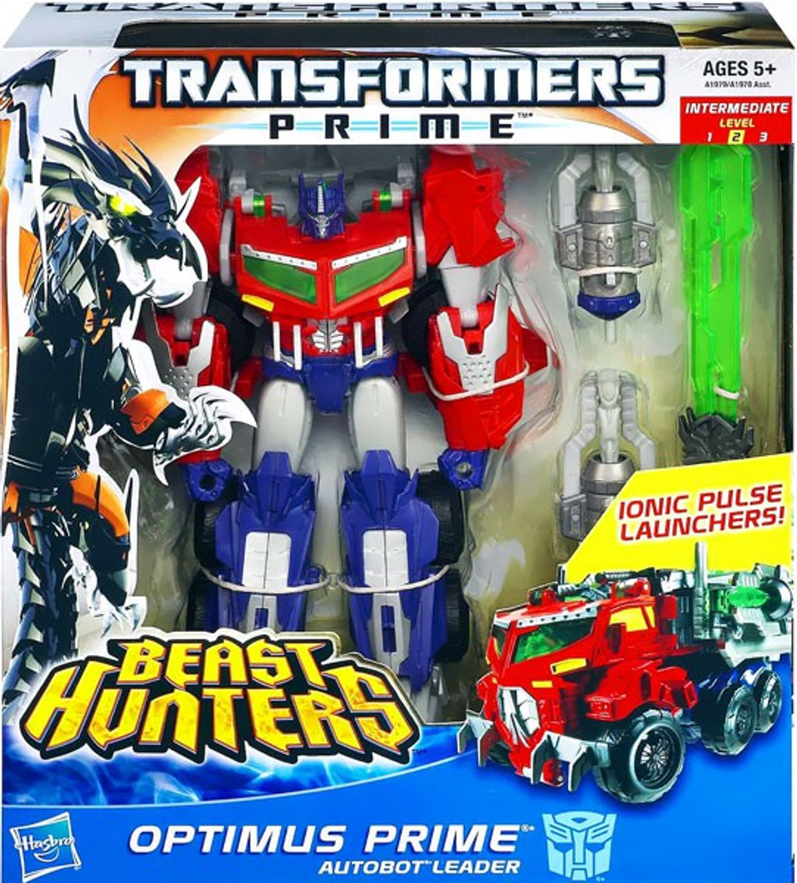Transformers Beast Hunters Optimus Prime Voyager Action Figure [Ionic Pulse Launchers]