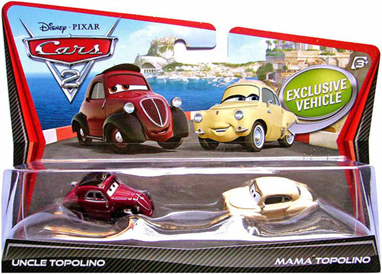 Disney Cars Cars 2 Uncle Topolino & Mama Topolino Diecast Car 2-Pack