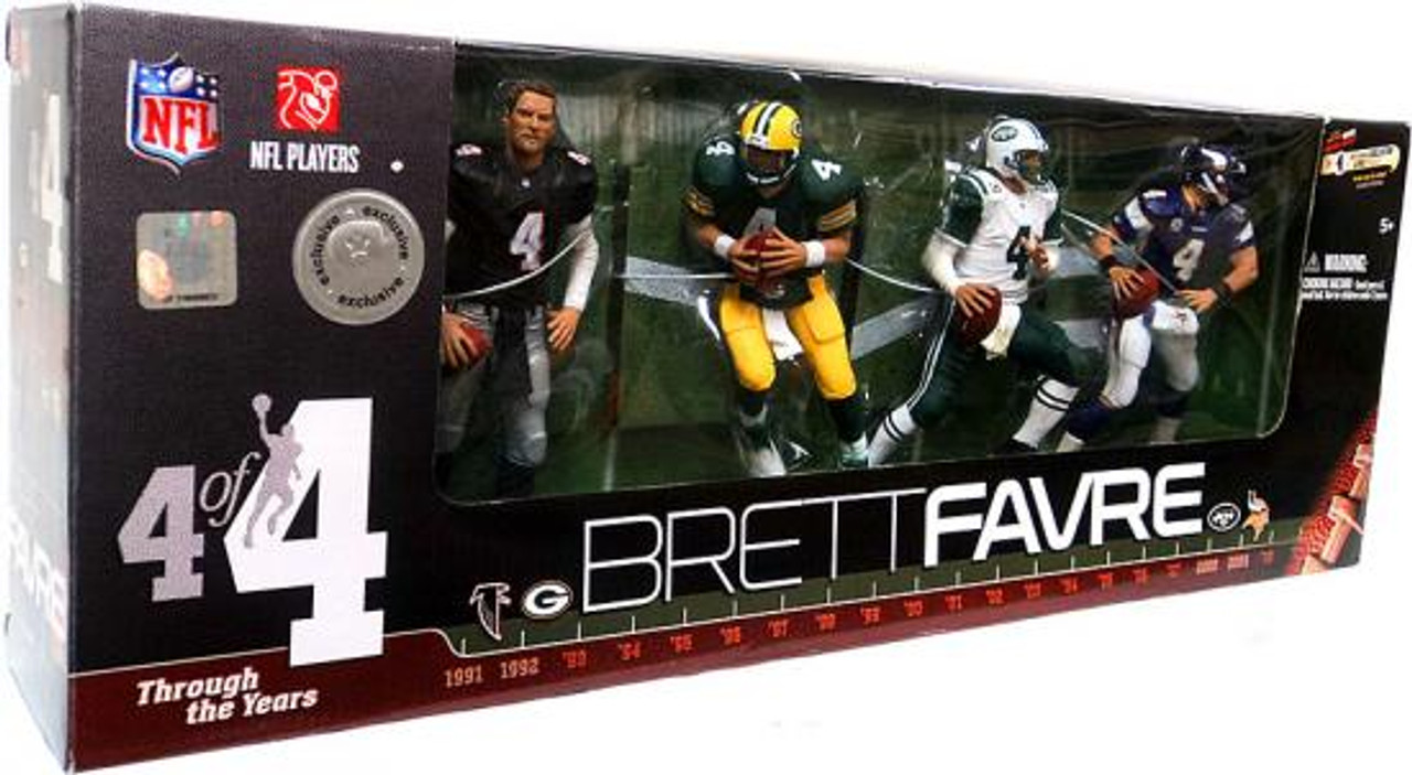 McFarlane Toys NFL Brett Favre Through the Years Exclusive Action Figure 4-Pack #4 of 4 [Black Falcons, Damaged Package]