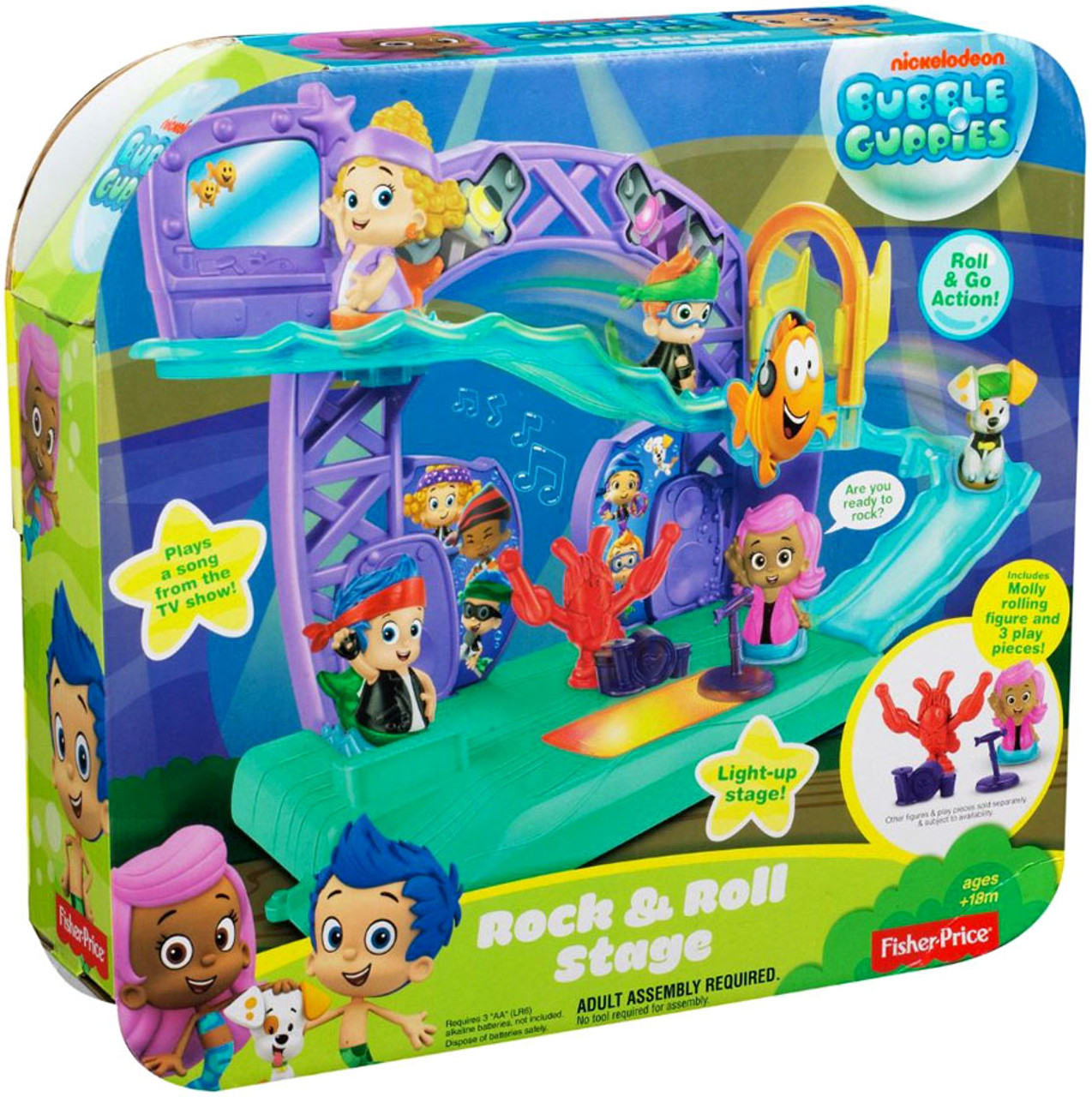 Fisher Price Bubble Guppies Rock & Roll Stage Playset