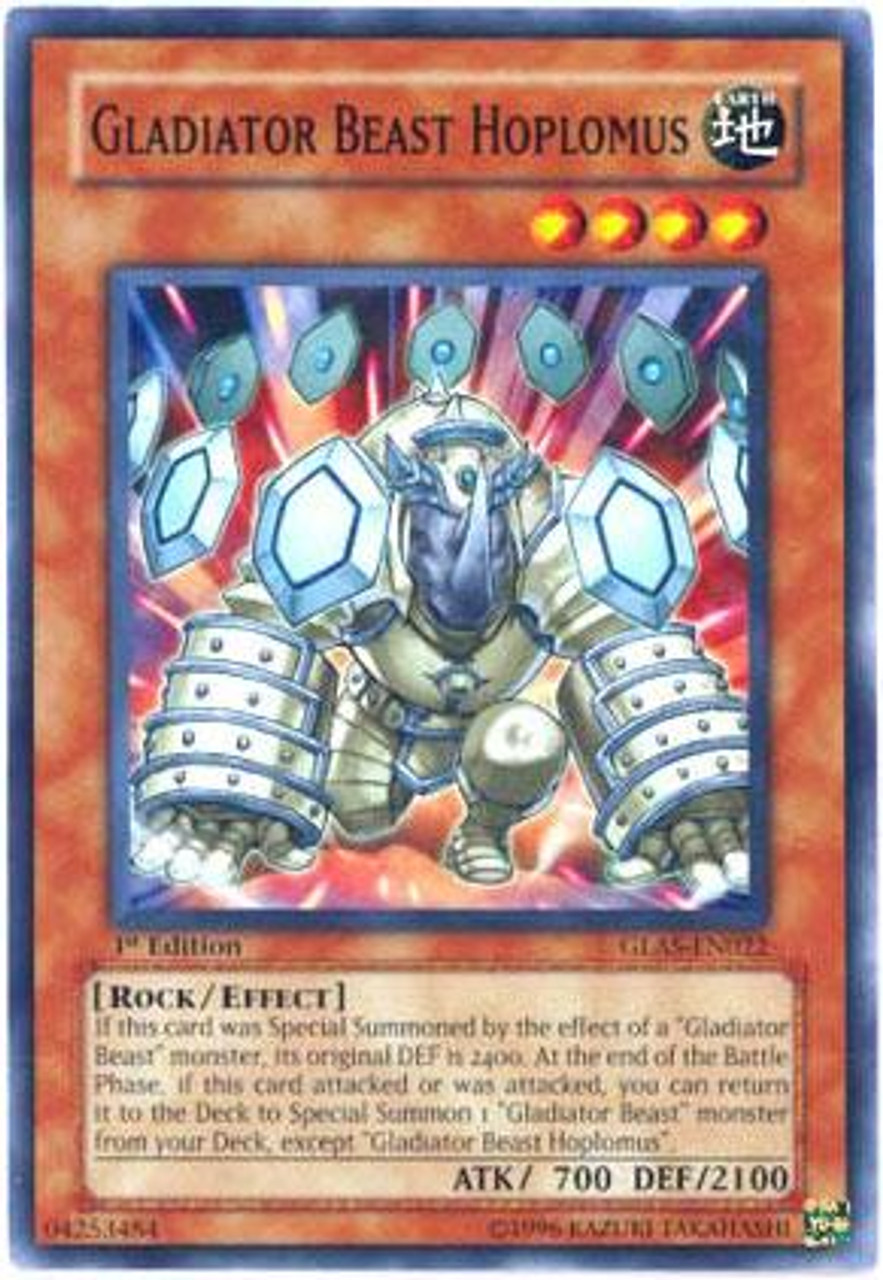 YuGiOh GX Gladiator's Assault Common Gladiator Beast Hoplomus GLAS-EN022