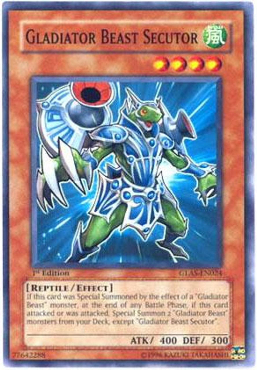 YuGiOh GX Gladiator's Assault Common Gladiator Beast Secutor GLAS-EN024